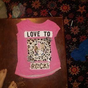 Pink justice shirt